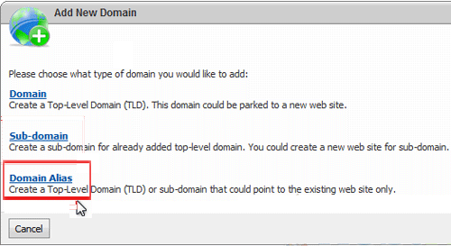 Web Circuit India Support Center - WebsitePanel - Creating a domain